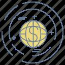 business, map, optimization, seo, world icon