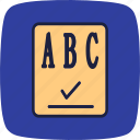 checker, checklist, list, paper, report, spellchecker, text icon