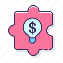 bulb, business, money, solutions icon