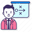 business, businessman, plan, strategy icon
