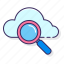 browse, cloud, network, search icon