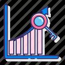 analytics, graph, keyword, statistics icon