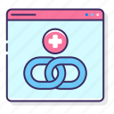 chain, hyperlink, link, web icon