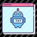 bots, internet, robot, txt icon
