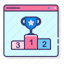 award, contest, seo, trophy icon