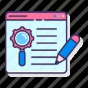 copywriting, internet, seo, web icon