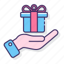 gift, packages, present, services icon