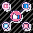 integration, media, network, social icon