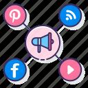 advertising, marketing, media, social icon