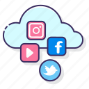 cloud, media, multimedia, social