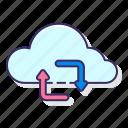 cloud, database, server, synchronizing icon