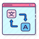 language, localization, text, translation icon