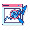 analytics, chart, statistics, web