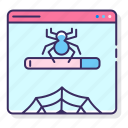 bug, crawler, spider, web icon