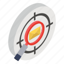 target mail, target email, search email, search mail, target message icon