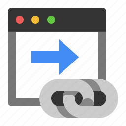 external link, marketing, outbound link, seo icon