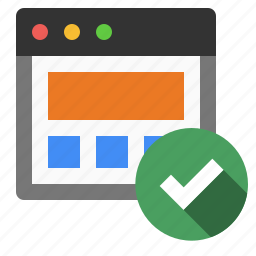 marketing, ok, page, page verification, seo, validation icon