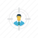 account, focus, profile, target, user icon