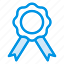 award, badge, business, champion, prize, ribbon, trophy icon
