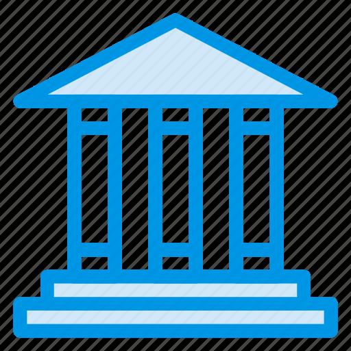 bank, banking, building, capital, finance, office, savings icon