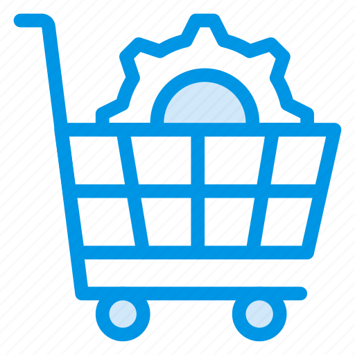 cart, cog, ecommerce, gear, options, setting, shopping icon