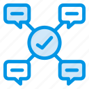 chat, finances, group, leadership, message, talk, users icon