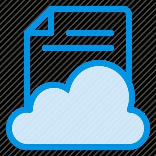 cloud, document, file, paper, storage, upload, web icon