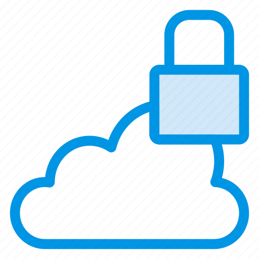 cloud, data, lock, locked, secure, security, storage icon