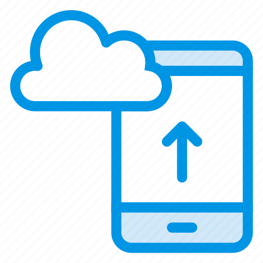 Cloud, data, device, mobile, phone, storage, upload icon - Download on Iconfinder