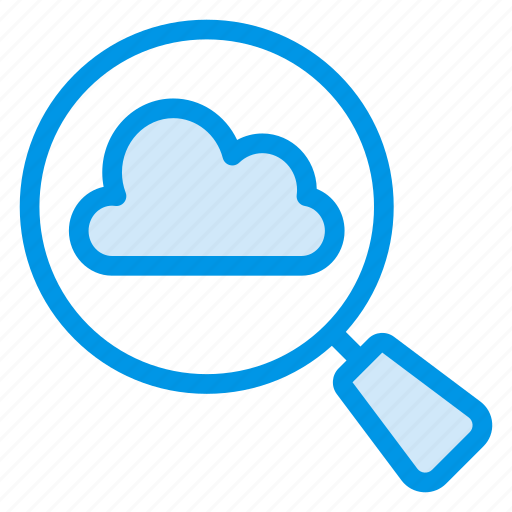 cloud, computing, find, magnify, search, view, vision icon