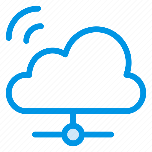 cloud, computing, network, share, sharing, storage, wifi icon