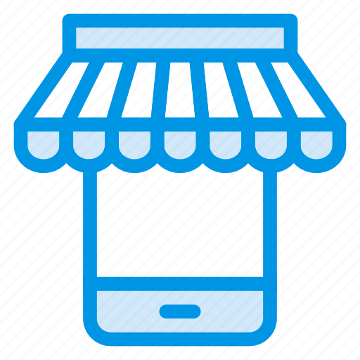 commerce, mobile, mobileshop, onlineshop, phone, shopping, store icon