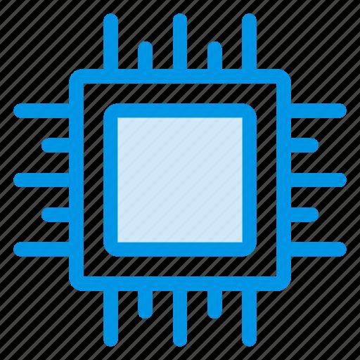 computer, cpu, microchip, multimedia, pc, processor, technology icon