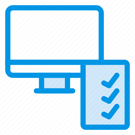 computer, device, list, monitor, paper, screen, technology icon