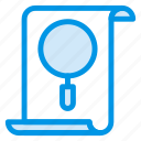magnify, browse, filesearch, file, statistic, find, view