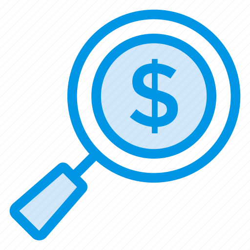business, finance, find, money, payment, search, shopping icon