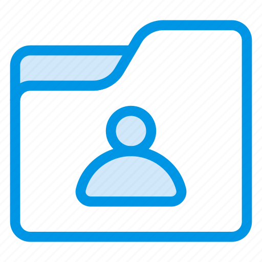 contact, folder, networking, people, profile, shared, user icon