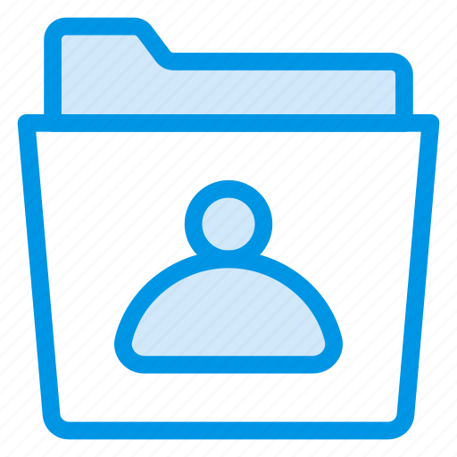 folder, networking, people, personal, profile, social, user icon