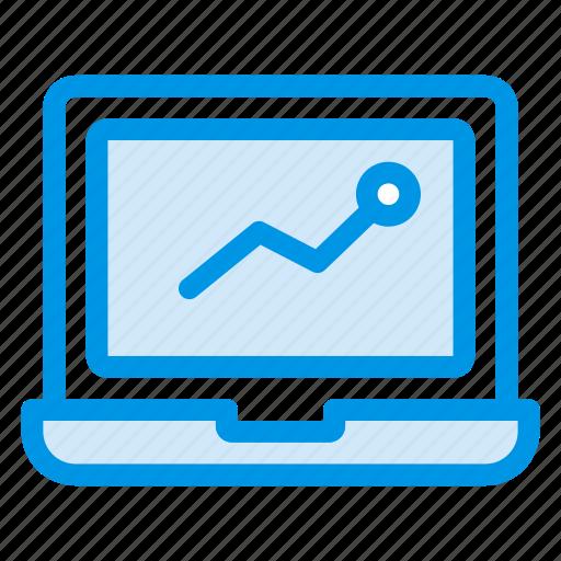 computer, desktop, infographic, laptop, macbook, notebook, statistics icon