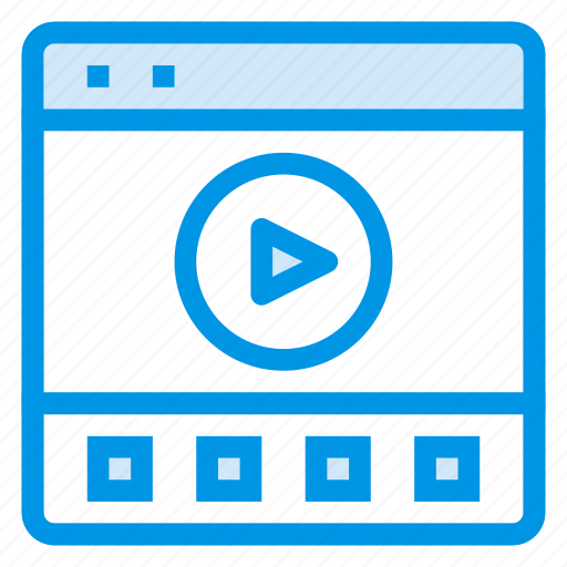 film, media, movie, player, social, video, webpage icon