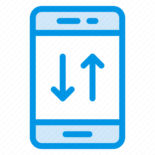 collect, device, download, mobile, phone, smartphone, upload icon
