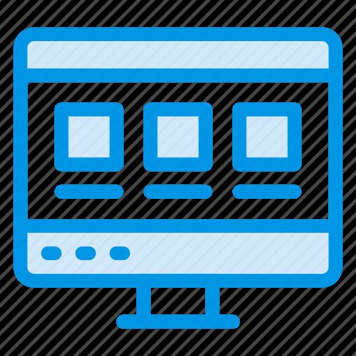 creative, desktop, device, hardware, monitor, screen, technology icon