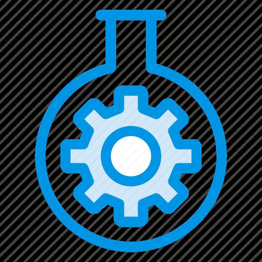 cogwheel, cube, gear, lab, option, setting, setup icon