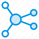 connect, media, network, share, social, statistic, update icon