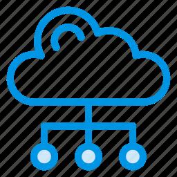 cloud, computing, network, share, sharing, storage, upload icon