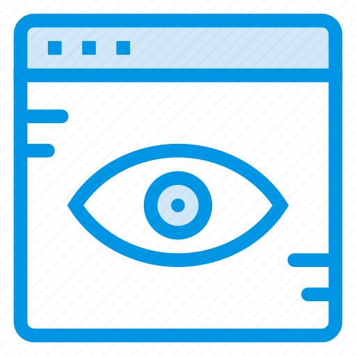 browser, check, eye, see, view, web, website icon