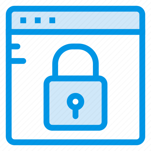 browser, internet, lock, locked, security, web, website icon