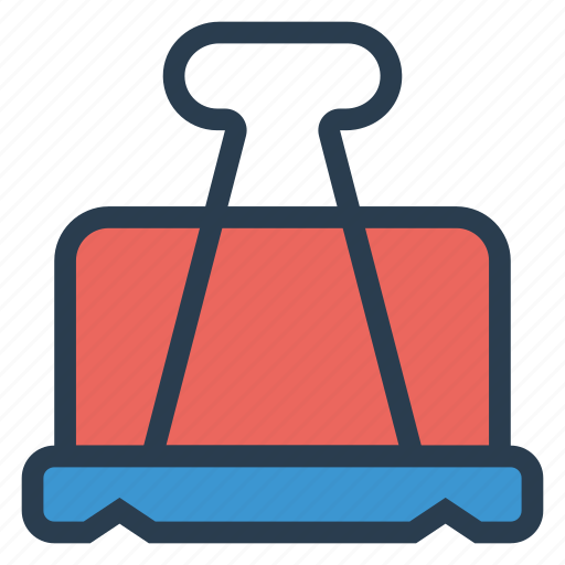 attach, clip, office, paperclip, papers, stationary, tool icon