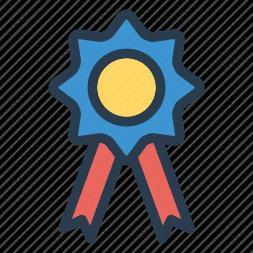 Trophy, star, champion, business, diploma, award, badge icon