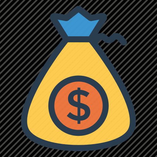 bag, cash, cashbag, coins, dollar, finance, money icon